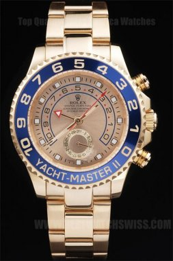Rolex Yachtmaster II Hot Sales Men's Sapphire Crystal Replica Watches R239