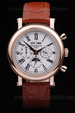 Patek Philippe Complicated High Quality Men's Sapphire Crystal Replica Watches PP4626
