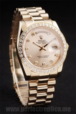 Rolex Daydate Top Quality 18k yellow gold 45*37MM Replica Watches 4795