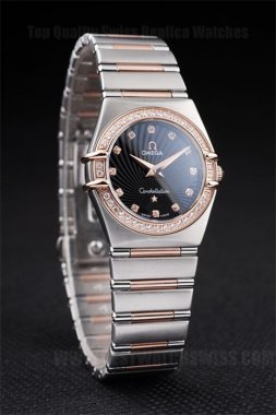Omega-Constellation Perfect Ladies' 18k rose gold Replica Watches Om4467