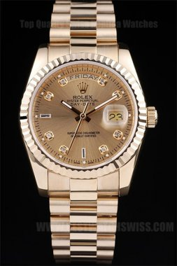 Rolex Daydate 2019 Men's 18k yellow gold Replica Watches R4804