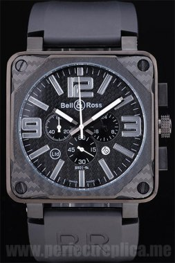 Bell & Ross Carbon Cheap Price Battery 50*44MM Replica Watches 3434