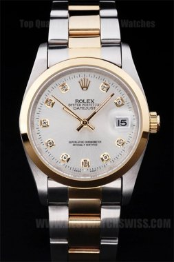 Rolex Datejust Professional Men's 18k yellow gold Replica Watches R4790