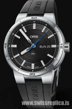 Oris TT1 Day-Date 42mm Black Dial 01 735 7752 4154-07 4 24 06FC