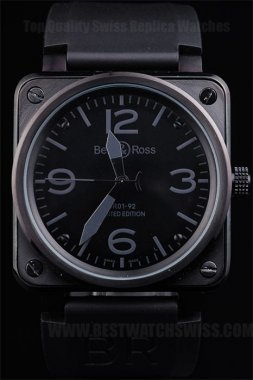 Bell & Ross Carbon 90% Off Men's Sapphire Crystal Replica Watches Be3456