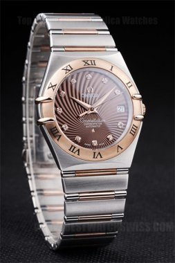 Omega Constellation 80% Off Men's Sapphire Crystal Replica Watches Om4489