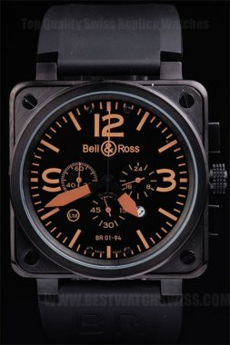 Bell & Ross Br-01-94 Good Men's Stainless Steel Replica Watches Be3469