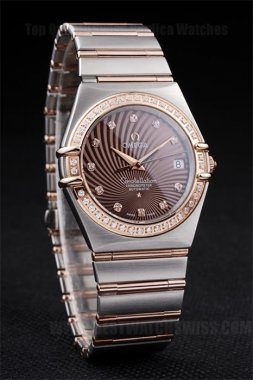 Omega Constellation Best Men's Sapphire Crystal Replica Watches Om4484