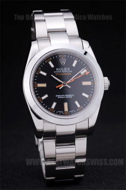 Rolex Milgaus Well-Known Men's Stainless Steel Replica Watches R155