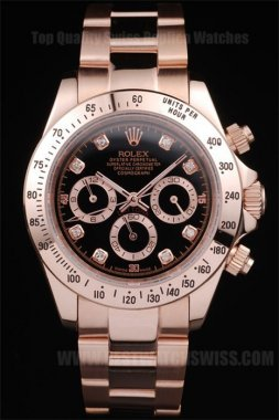 Rolex Daytona 70% Off Men's 18k rose gold Replica Watches R58