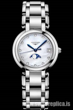Longines PrimaLuna Moonphase Diamonds Women Quartz L8.115.4.87.6
