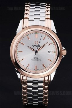 Omega Deville High Technology Men's Quartz Replica Watches Om4391