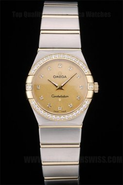 Omega-Constellation Perfect Ladies' Sapphire Crystal Replica Watches Om80293