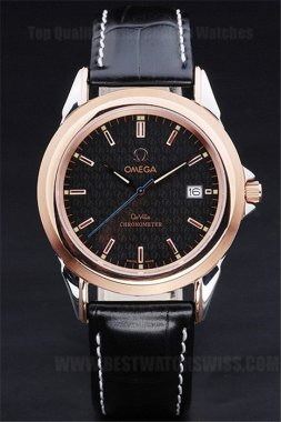 Omega Deville Hot Sales Men's Sapphire Crystal Replica Watches Om4404