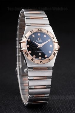 Omega-Constellation Top Quality Ladies' 18k rose gold Replica Watches Om4475
