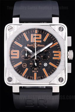 Bell & Ross Carbon Perfect Men's Stainless Steel Replica Watches Be3433