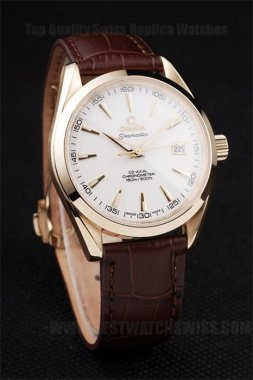 Omega Seamaster AAA+ Men's 18K yellow gold Replica Watches Om4461