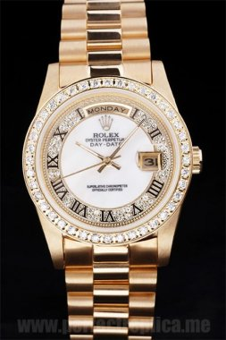 Rolex Daydate Perfect gift 18k yellow gold 44*38MM Replica Watches 4830