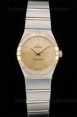 Omega-Constellation Luxury Ladies' Sapphire Crystal Replica Watches Om80292
