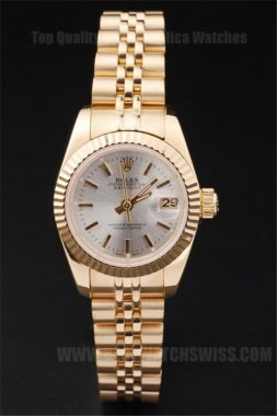 Rolex Datejust Best Value Ladies' 18k yellow gold Replica Watches R4692