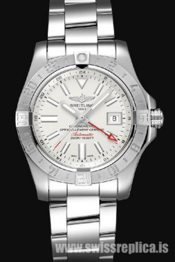 Breitling Avenger II GMT Stratus Silver Dial Stainless Steel A32390111G1A1