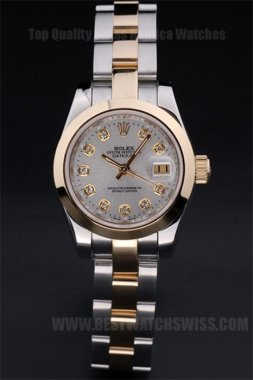 Rolex Datejust Best Choice Ladies' 18k yellow gold Replica Watches R4745