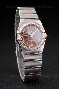 Omega-Constellation Top Quality Ladies' 18k rose gold Replica Watches Om4468