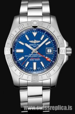Breitling Avenger II GMT Mariner Blue Dial Stainless Steel A32390111C1A1