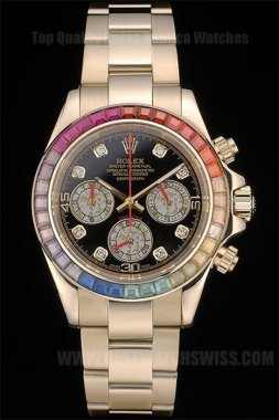 Rolex Daytona 70% Off Men's 18k rose gold Replica Watches R80251