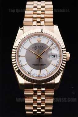 Rolex Datejust 70% Off Men's 18K yellow gold Replica Watches R4787
