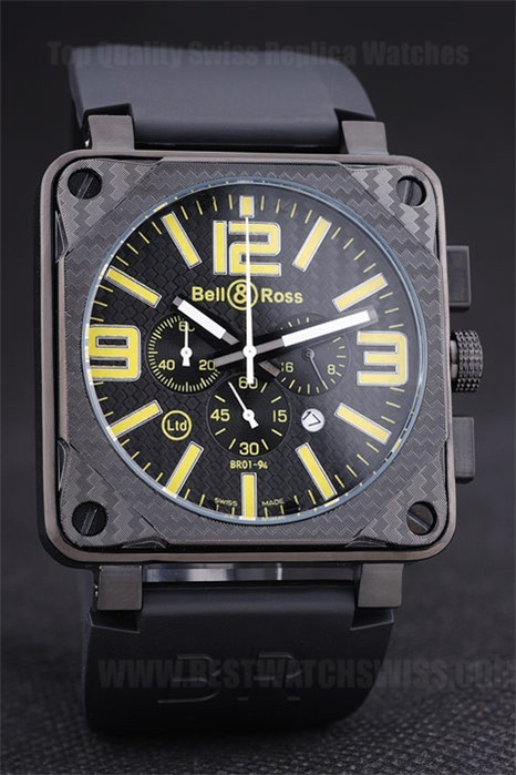 Bell & Ross Carbon High Quality Men's Quartz Replica Watches Be3435