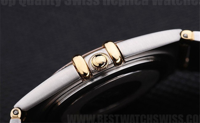 Omega-Constellation Top Quality Men's 18k yellow gold Replica Watches Om4463