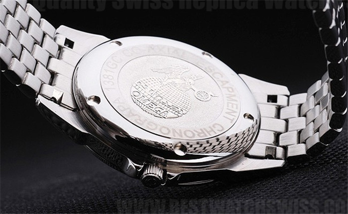 Omega Deville Best Choice Men's Stainless Steel Replica Watches Om4390