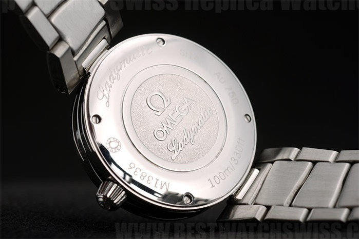 Omega Deville AAA+ Ladies' Stainless Steel Replica Watches Om4375