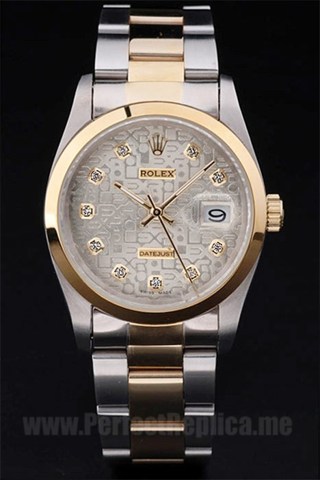 Rolex Datejust Highest Quality Men's 18k yellow gold Replica Watches R4792
