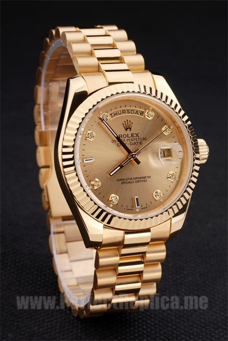 Rolex Daydate Professional Men's Sapphire Crystal Replica Watches R4827