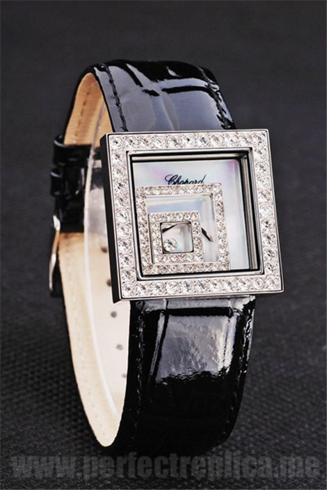 Chopard Top Quality Black 30*30MM Replica Watches 3906